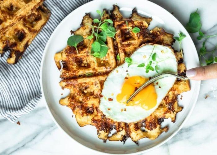 Low Carb Cauliflower Waffles