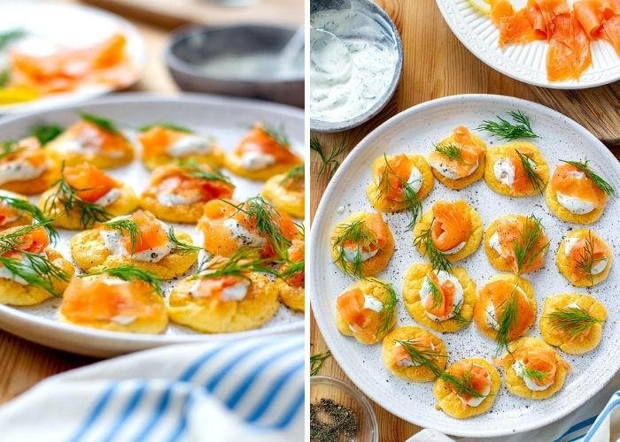 Cloud Bread Blinis With Smoked Salmon Recipe