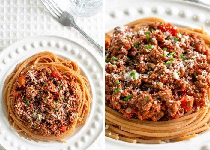 Low fodmap dinner recipes - spaghetti bolognese