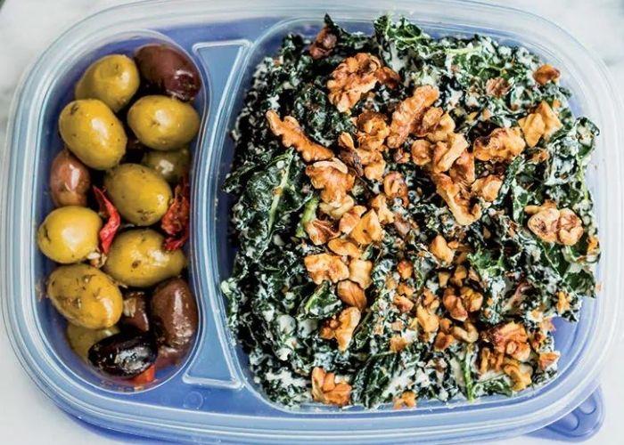 Meal Prep Creamy Kale Caesar Salad