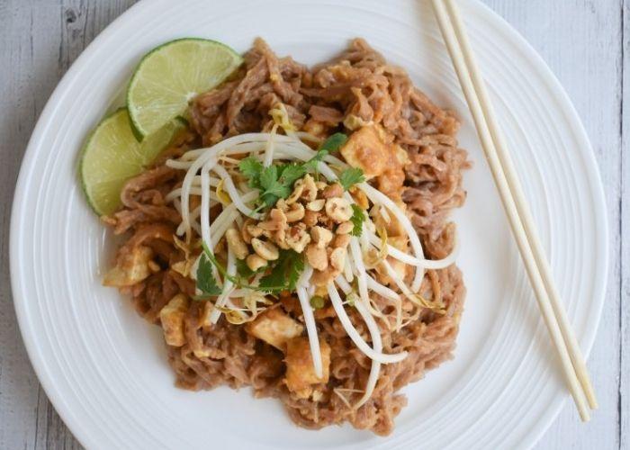 Pad Thai with tofu - Low fodmap dinner recipes