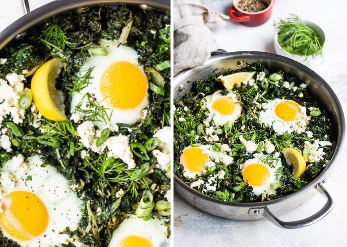 Spanakopita Baked Eggs