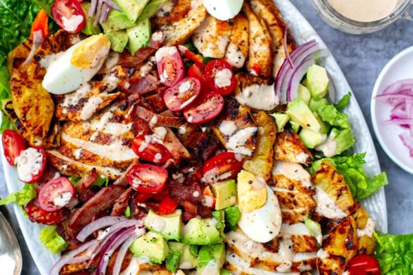 Chicken Cobb Salad With Chipotle Ranch & Grilled Pineapple