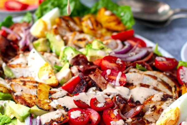 Cobb Salad With Grilled Chicken, Pineapple & Chipotle Ranch Dressing