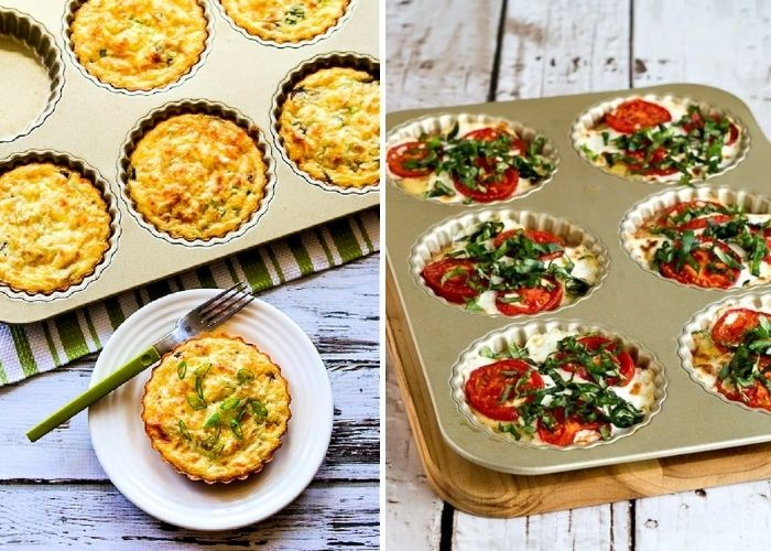 Crustless breakfast tarts low-carb keto