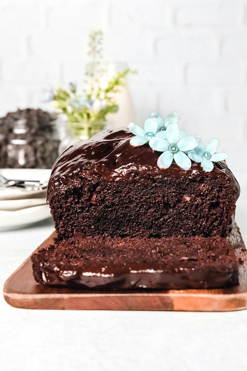 Hidden vegetable cake - chocolate zucchini, gluten-free, paleo