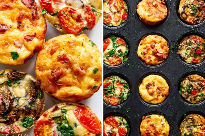 Low-carb egg muffins three ways