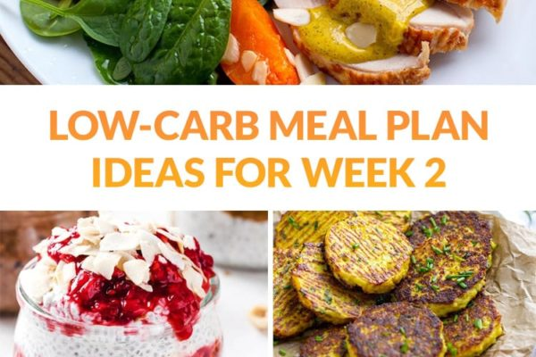 Low-Carb Meal Plan Ideas Week 2 (Breakfast, Lunch, Dinner & Snacks)
