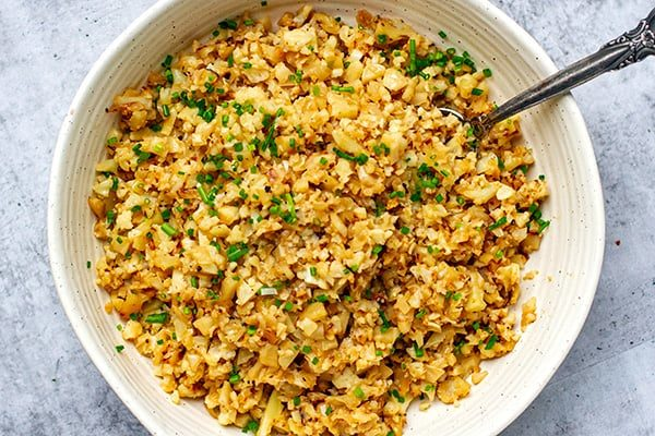 Best cauliflower rice with coconut cream