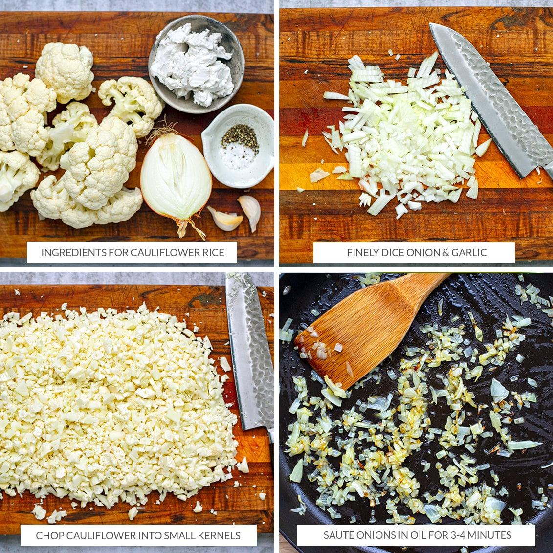 How to make cauliflower rice with coconut cream
