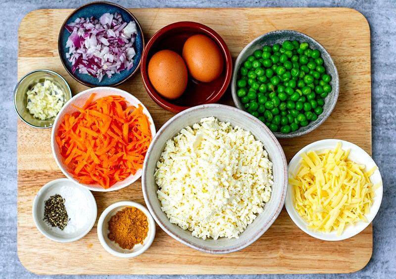 Paneer Fritters Ingredients