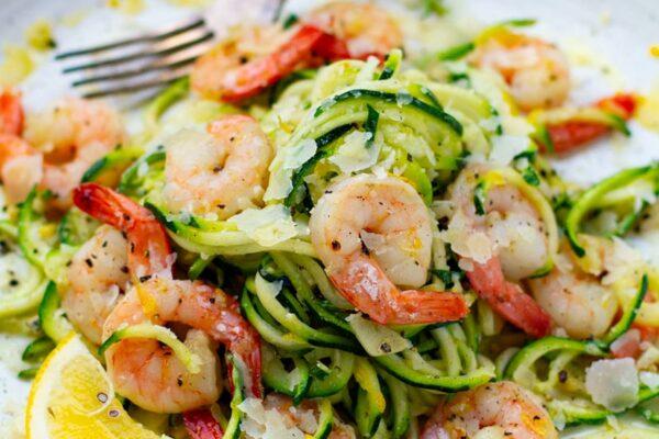Healthy Shrimp Zucchini Pasta Recipe